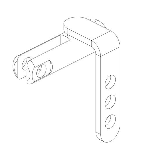 1868 NG1 Throttle Cable Mount (MK3-4)