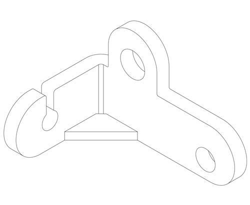1645 NG1 Throttle Pedal Fixing Point