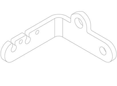 1395 Twin Throttle Cable Fixed Point Bracket