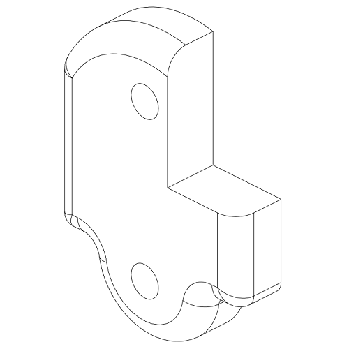 121-0144 Front Spacer Notched RH (BKT336) 500x500