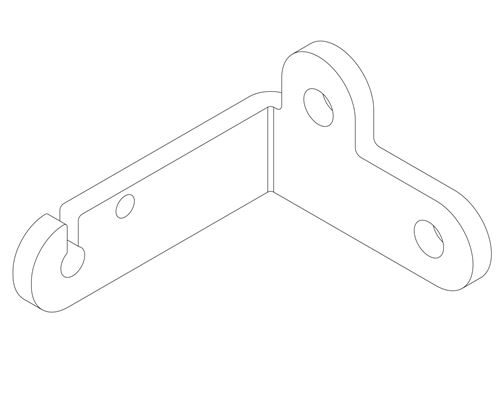 1211 Single Throttle Cable Fixed Point Bracket