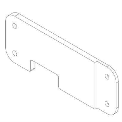 124-0021 Evo3 Inside Wrap Plastic Strenghtening Plate LH 493 500x500